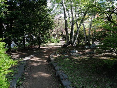 北方領土復帰啓発の広場の園道