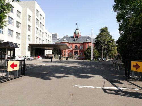南門前の北海道庁旧本庁舎(赤れんが庁舎)