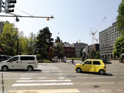 北門前の北海道庁旧本庁舎(赤れんが庁舎)