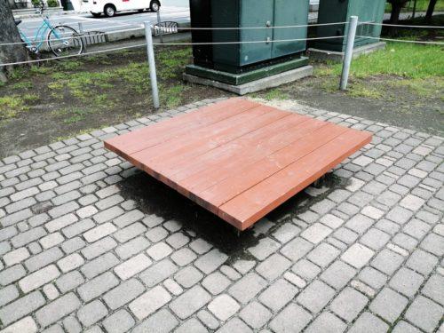 正方形ベンチ