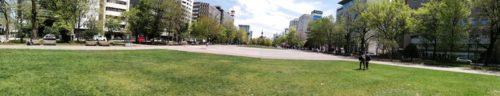 パノラマによる大通公園8丁目全体。