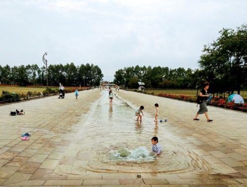 水遊び場のカナール(遊水路)