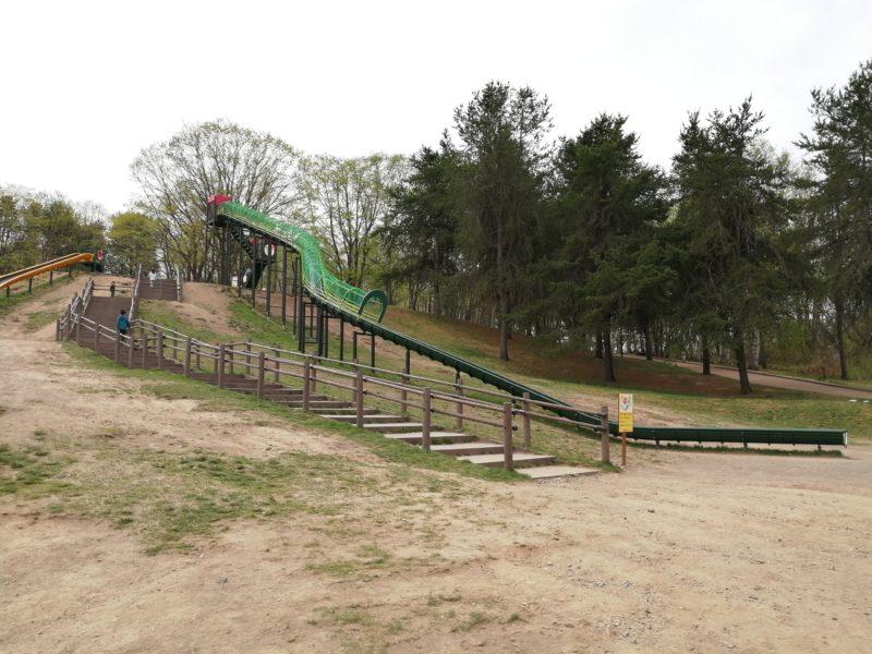 全長40メートルのロングすべり台