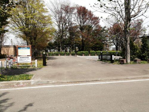 障害者専用駐車場の出入口