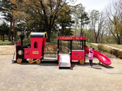 幼児も遊べる汽車のコンビネーション遊具