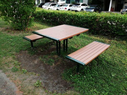 対面式テーブルベンチセット