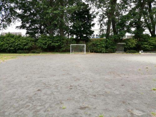 半面のサッカーコート