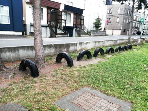 タイヤ遊具