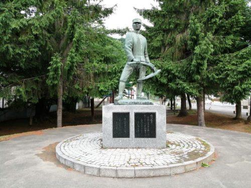 山鼻屯田兵の像