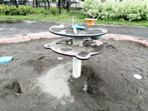 砂場用テーブル遊具