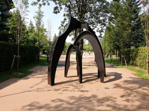 「風の路」の銅像