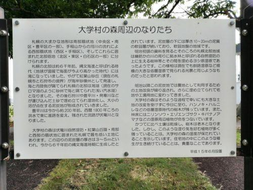大学村の森説明