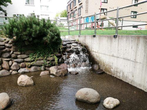 下流エリアの滝