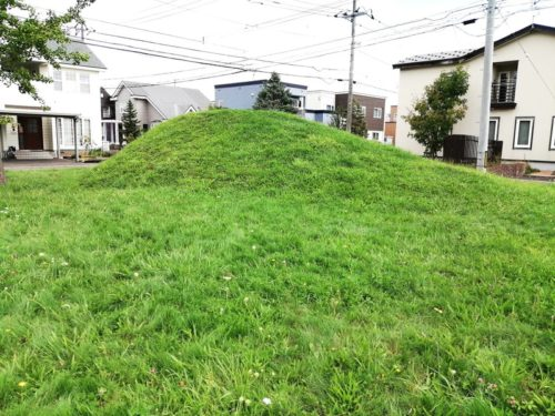 2メートルほどの高さの山
