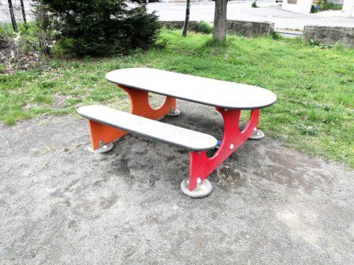 幼児用テーブルベンチセット