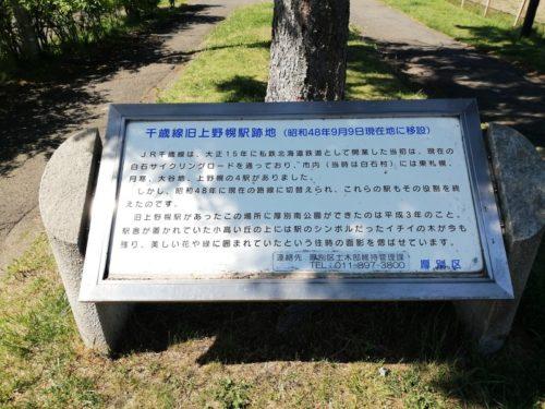 千歳線旧上野幌駅跡