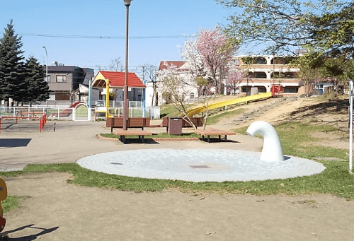 水遊び場(シャワー池)
